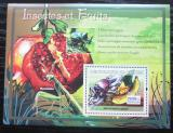 Poštovní známka Guinea 2007 Hmyz a ovoce Mi# Block 1218 Kat 7€