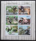 Poštovní známky Guinea-Bissau 2011 Panda velká Mi# 5252-57 Kat 13€