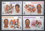 Poštovní známky Tanzánie 1980 LOH Moskva Mi# 157-60