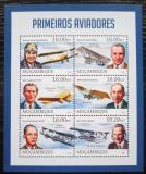 Poštovní známky Mosambik 2013 Letadla a letci Mi# 6567-72 Kat 10€