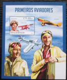 Poštovní známky Mosambik 2013 Letadla a letci Mi# Block 757 Kat 10€