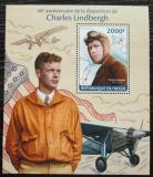 Poštovní známka Niger 2014 Charles Lindbergh, letadla Mi# Block 275 Kat 8€
