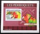 Poštovní známka Guinea 2007 Papoušci DELUXE neperf. Mi# 6433 B Block