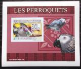 Poštovní známka Guinea 2007 Papoušci DELUXE neperf. Mi# 6435 B Block