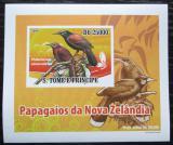 Poštovní známka Svatý Tomáš 2009 Laločník sedlatý DELUXE neperf. Mi# 3888 B Block