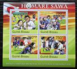 Poštovní známky Guinea-Bissau 2011 Homare Sawa, fotbalistka Mi# 5503-06 Kat 12€