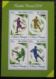 Poštovní známky Svatý Tomáš 2014 MS ve fotbale Mi# 5559-62 Kat 10€