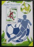 Poštovní známka Svatý Tomáš 2014 MS ve fotbale Mi# Block 971 Kat 10€