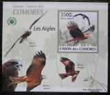 Poštovní známka Komory 2009 Orli DELUXE neperf. Mi# 2386 B Block