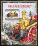 Poštovní známka Mosambik 2013 Hasiči Mi# Block 765 Kat 10€