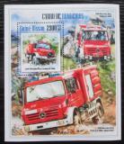 Poštovní známka Guinea-Bissau 2013 Hasičská auta Mi# Block 1207 Kat 12€