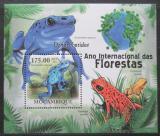Poštovní známka Mosambik 2011 Žáby Mi# Block 409 Kat 10€