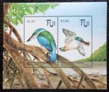 Poštovní známky Fidži 1994 Ledňáček proměnlivý Mi# Block 12 Kat 10€