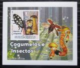 Poštovní známka Guinea-Bissau 2008 Brouci a houby DELUXE neperf. Mi# 3859 B Block