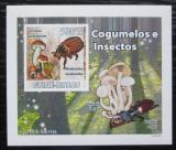 Poštovní známka Guinea-Bissau 2008 Brouci a houby DELUXE neperf. Mi# 3860 B Block