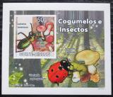 Poštovní známka Guinea-Bissau 2008 Brouci a houby DELUXE neperf. Mi# 3861 B Block