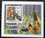 Poštovní známka Guinea-Bissau 2008 Brouci a houby DELUXE neperf. Mi# 3862 B Block