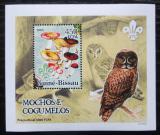 Poštovní známka Guinea-Bissau 2005 Sovy a houby DELUXE Mi# 3230 Block