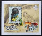 Poštovní známka Guinea-Bissau 2005 Sovy a houby DELUXE Mi# 3231 Block