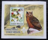 Poštovní známka Guinea-Bissau 2005 Sovy a houby DELUXE Mi# 3232 Block