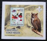 Poštovní známka Guinea-Bissau 2005 Sovy a houby DELUXE Mi# 3233 Block