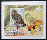 Poštovní známka Guinea-Bissau 2005 Sovy a houby DELUXE Mi# 3234 Block