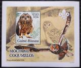 Poštovní známka Guinea-Bissau 2005 Sovy a houby DELUXE Mi# 3235 Block