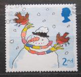Poštovní známka Velká Británie 2001 Vánoce, sněhulák Mi# 1966