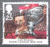 Poštovní známka Velká Británie 1995 Rugby, Gus Risman Mi# 1592