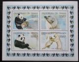 Poštovní známky Kongo 1999 Medvědi Mi# 1609-12 Bogen