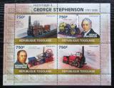 Poštovní známky Togo 2010 Parní lokomotivy Mi# 3499-3502 Kat 12€