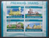 Poštovní známky Togo 2010 Parní lokomotivy Mi# 3759-62 Kat 12€