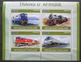 Poštovní známky Togo 2010 Africké lokomotivy Mi# 3764-67 Kat 12€