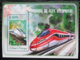 Poštovní známka Svatý Tomáš 2014 Moderní lokomotivy Mi# Block 1028 Kat 10€