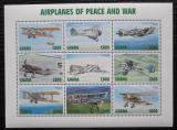 Poštovní známky Ghana 1998 Bojová letadla Mi# 2742-50