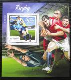 Poštovní známka Sierra Leone 2015 Rugby Mi# Block 878 Kat 11€