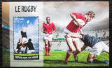 Poštovní známka Niger 2016 Rugby Mi# Block 546 Kat 10€