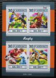 Poštovní známky Mosambik 2015 Rugby Mi# 8124-27 Kat 15€