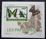 Poštovní známka Togo 2010 Motýli DELUXE neperf. Mi# 3404 B Block