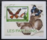 Poštovní známka Togo 2010 Motýli DELUXE neperf. Mi# 3405 B Block