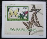 Poštovní známka Togo 2010 Motýli DELUXE neperf. Mi# 3407 B Block