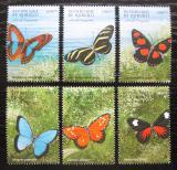 Poštovní známky Džibutsko 2000 Motýli Mi# 682-87 Kat 12€