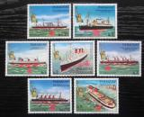 Poštovní známky Paraguay 1986 Lodě a Socha svobody Mi# 4003-09