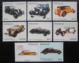 Poštovní známky Paraguay 1986 Historická auta Maybach s kupónem Mi# 3987-93