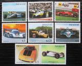 Poštovní známky Paraguay 1983 Závodní auta s kupónem Mi# 3586-90