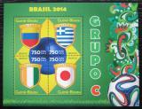 Poštovní známky Guinea-Bissau 2014 MS ve fotbale, skupina C Mi# 7194-97 Kat 12€
