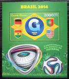 Poštovní známka Guinea-Bissau 2014 MS ve fotbale, skupina G Mi# Block 1262 Kat 8€