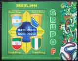 Poštovní známky Guinea-Bissau 2014 MS ve fotbale, skupina F Mi# 7206-09 Kat 12€