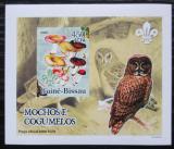 Poštovní známka Guinea-Bissau 2005 Sovy a houby DELUXE neperf. Mi# 3235 B Block