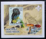 Poštovní známka Guinea-Bissau 2005 Sovy a houby DELUXE neperf. Mi# 3236 B Block